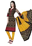 Salwar Studio Multicolor & Yellow Cotton Dress Material With Dupatta RangResham-1818