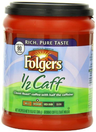 Folgers Half Caff Coffee, 10.8 Ounce (Pack of