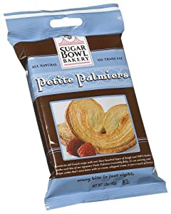 Sugar Bowl Bakery Petite Palmiers, 1.5-Ounce Single Serve Packages (Pack of 24)
