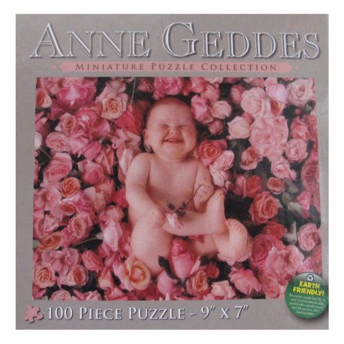 Anne Gedde's 100 Piece Miniature Puzzle Collection - Baby and Pink Floral