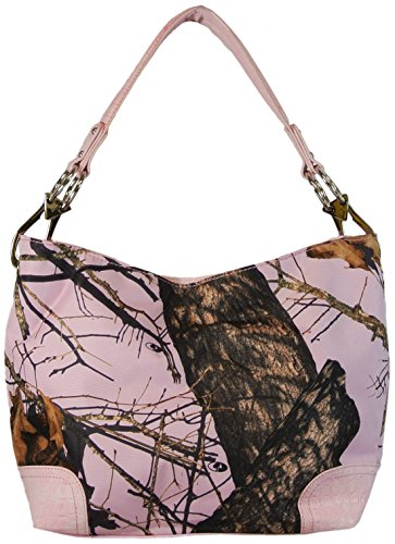 Mossy Oak Pink Camo Concealed Gun Carry Tote Purse Large Handbag