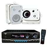 Pyle Stereo Receiver with Waterproof Speaker Package - PT260A...