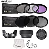 Alcoa Prime Andoer 55mm Lens Filter Kit UV+CPL+FLD+ND(ND2 ND4 ND8) With Carry Pouch Lens Cap Holder Tulip & Rubber...