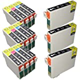 15 Inks (6x T0711 3x T0712 3x T0713 3x T0714) Multipack T0715 Compatible Ink Cartridges for Epson Stylus B40w BX300f BX310fn BX510 BX600fw BX610fw S20 S21 SX100 SX105 SX110 SX115 SX200 SX205 SX210 SX215 SX218 SX400 SX405 SX410 SX415 SX510w SX515w SX600fw