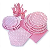 LolliZ Party Pack For 8, Pink & Polka Dots Design