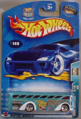 Hot Wheels 2003 Work Crewsers Bus 3/10 #149 BLUE Surf 1:64 Scale - 1