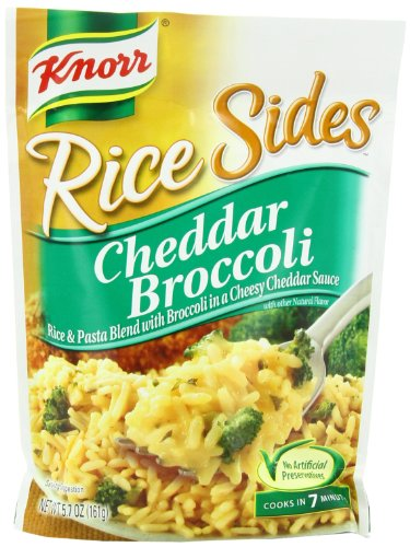 Knorr/Lipton Rice & Sauce, Cheddar Broccoli, 5.7Ounce Packages (Pack of 12)