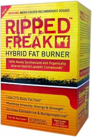 Ripped Freak Hybrid Fat Burner, Capsules, 60 ea