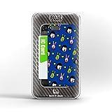 暇な女子大生デザイン IC-COVER iPhone 5/5S対応のICカードケース (暇女ブルー)