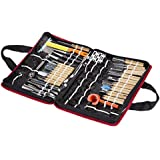 Vktech® Culinary Carving Tool Set 80 Piece Fruit/vegetable Garnishing/cutting/slicing Decorators, Peelers, Cutters, Sculptors Set Wood Case