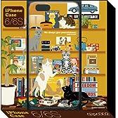 猫とシェルフ(iPhone6/6Sケース) (Kazushi Ryoguchi (QUATRE ILLUSTRATION))