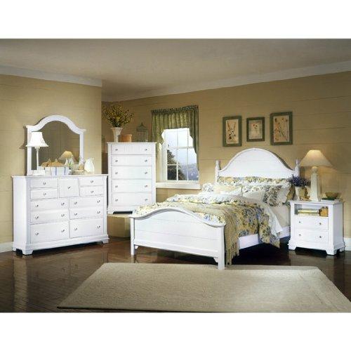 Cottage Snow White Panel Bedroom Set by Vaughan-Bassett