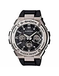Casio | G-Shock G-Steel Smoke Dial SS Resin Chrono Quartz Men's Watch GSTS110-1A