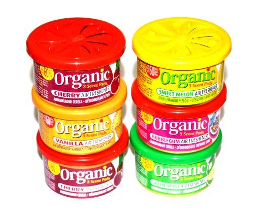 frucht-sixpack-autoduft-mix-6-ld-organic-scents-duftdosen-sortierung-2-x-cherry1-x-bubble-gum1-x-van