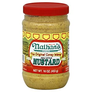 Nathan Coney Island Mustard 16.0 OZ(Pack of 2) by Nathan Coney Island