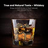 Whiskey Stones, TaoTronics Stainless Steel Reusable Ice Cubes for Wine, Chilling Rocks, Sipping Stones ( Set of 8, Rubber Tip Tongs, Ice Tray with Lid - FDA Approved & BPA Free )