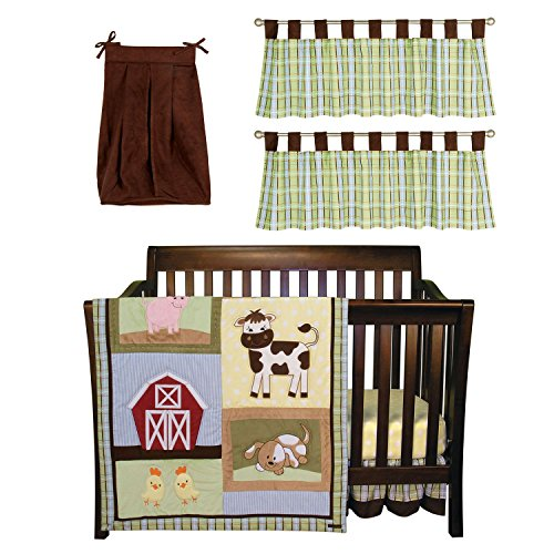 Trend Lab Baby Crib Bedding Set, 6 Pc. - Baby Barnyard (2 Pack) front-228897