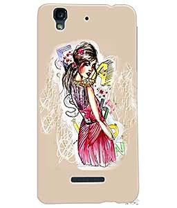 Fuson Style Girl Back Case Cover for MICROMAX YU YUREKA - D3895