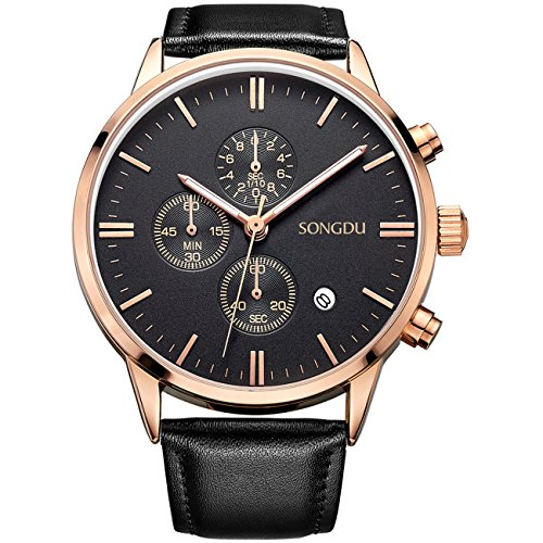 songdu-date-unisex-black-multifunction-chronograph-mens-watches-stopwatch-rose-gold-with-leather-str