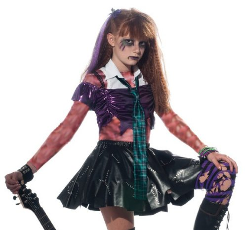 Girl Zombie Punk Rocker #2 Costume