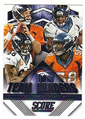 2015 Panini Score Football Team Leaders #25 Denver Broncos NM to Mint or Better