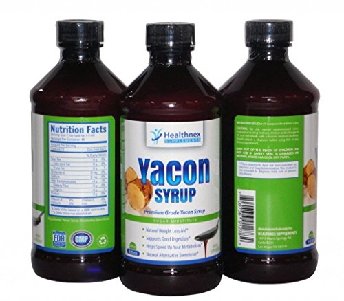 Pure Yacon Syrup 8oz Bottle – Natural Healthy Sugar Substitute – Great Taste – 100% Raw Syrup From the Yacon Root – Boosts Metabolism – Alternative Low Calorie Sweetener – Natural Prebiotics and Antioxidants – Cleanses the Digestive System and Increases Good Digestion – Natural Weight Loss Product – 30 Day Full Refund Guarantee