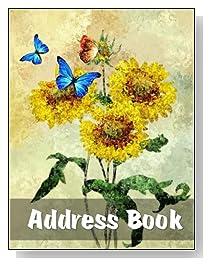 Sunflowers & Butterflies Large Print Address Book