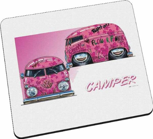 Personalisiertes Koolart - VW Pink Camper Car - Mousepad