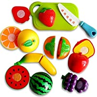 Stuff Jam Realistic Sliceable Fruits Cutting Play Toy Set With Velcro - 228C2