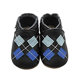 Sayoyo Baby Box Soft Sole Black Leather Infant And Toddler Shoes 6-12Months