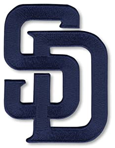 2 PATCH TWINPACK - San Diego Padres Blue SD MLB Baseball Team Logo Patches - Secondary Logo 2011 - P
