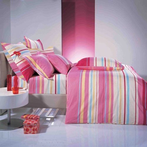 Pink Memory Stripes Full/Queen Duvet Cover