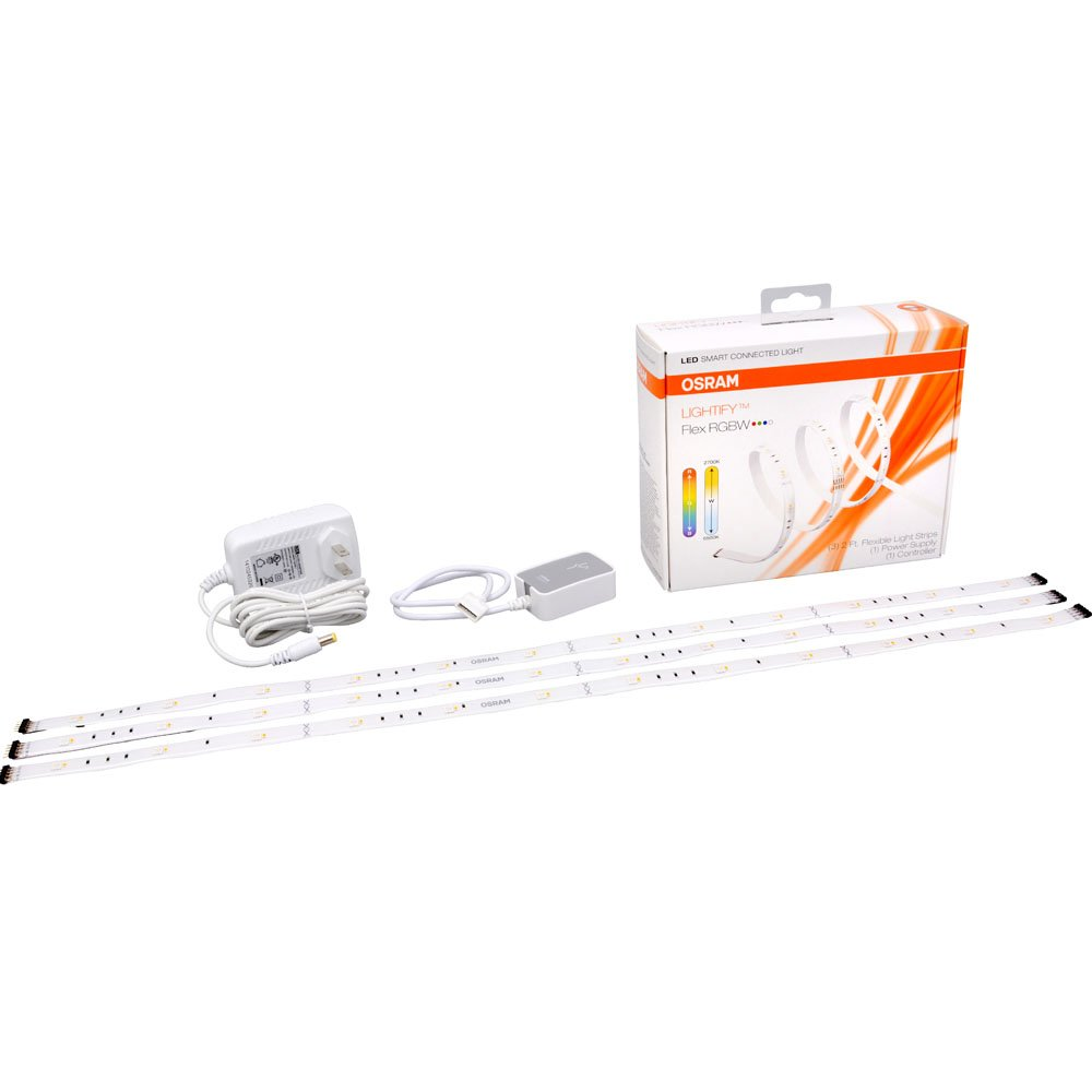 SYLVANIA Smart+ LED Connected Flex Light Strip,Tunable Warm White to Daylight and RGBW Color 2700K - 6500K, 73661 (Formerly Lightify), Works with Amazon Alexa