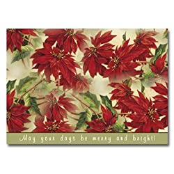 "Poinsettias - 5"" x 7"" Pop Up Christmas Greeting Card"