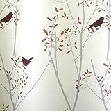 スミノエ デザインライフ 既製遮光カーテン ミキニコトリ V1057 ピンク 幅100X丈135cm 1枚入 32370512