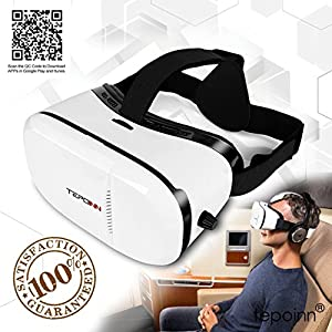( Version) 3D VR Glasses Tepoinn 3D Virtual Reality Headset VR Box 4.0-6.0 inch Smartphone iPhone 6s 6 Plus Android Samsung Galaxy S7 S6 S7 Edge S6 Edge Note Moto LG Nexus HTC 3D Movies/Video Games by Tepoinn