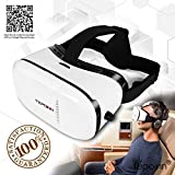 (New Version) 3D VR Glasses Tepoinn 3D Virtual Reality Headset VR Box 4.0-6.0 inch Smartphone iPhone 6s 6 Plus Android Samsung Galaxy S7 S6 S7 Edge S6 Edge Note Moto LG Nexus HTC 3D Movies/Video Games