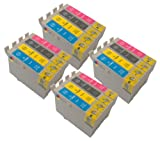 T 715 X 4 MULTIPACK FOR EPSON STYLUS SX415 - EPSON COMPATIBLE Ink Cartridges ALSO COMPATIBLE FOR Epson Stylus D120, D78, D92, DX400, DX4000, DX4050, DX4400, DX4450, DX5000, DX5050, DX6000, DX6050, DX7000, DX7400, DX7450, DX8400, DX8450, DX9400F, S20, S21