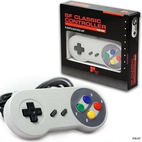 BRAND New Wii - Classic Controller Pad Famicom Style TTX Tech GREY (Super SNES) (Super Tennis Snes compare prices)