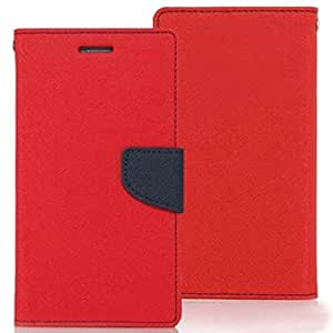 Nosson Imported Fancy Wallet Dairy Flip Case Cover For Samsung Galaxy S Duos S7562 - (Red)