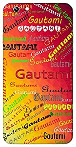 Gautami (River Godavari In India) Name & Sign Printed All over customize & Personalized!! Protective back cover for your Smart Phone : Samsung Galaxy E5