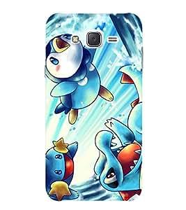 Evaluze pokemon Printed Back Cover for SAMSUNG GALAXY J7 2015