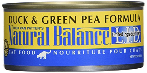 Dick Van Patten's Natural Balance Limited Ingredients Duck and Green Pea Canned Cat Food (Case of 24), 5.5 oz. (Natural Balance Green Pea Duck compare prices)