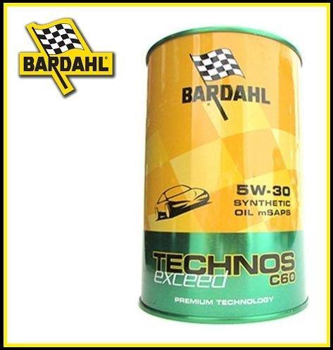 6-LITRI-OLIO-MOTORE-PER-AUTO-BARDAHL-TECHNOS-C60-EXCEED-5W30