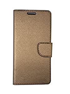 Fabson Flip Cover for Reliance Jio Lyf Wind 9 Flip Cover Case - Gold