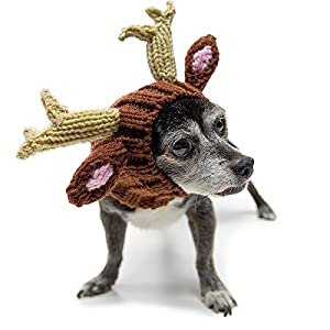 Zoo Snoods - The Original Knit Deer Dog Snood (size: small)