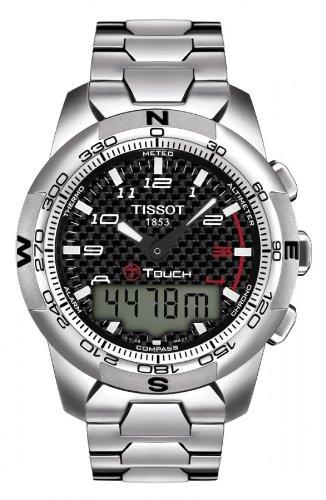 Tissot T-Touch II Black Carbon Quartz Multifunction Titanium Men's watch #T047.420.44.207.00