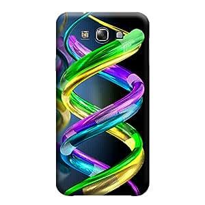 Qbic Designer 3D Printed Hard Mobile Back Case Cover for Samsung E7