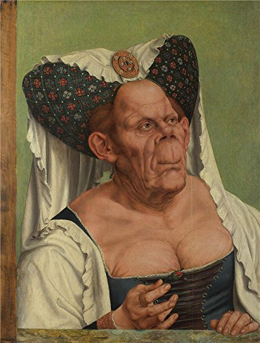 The polyster Canvas of oil painting 'Quinten Massys An Old Woman (The Ugly Duchess) ' ,size: 30 x 39 inch / 76 x 100 cm ,this Best Price Art Decorative Canvas Prints is fit for Wall art artwork and Home artwork and Gifts