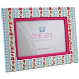 Chelsea Blues Floral 4X6 Photo Frame - Flower Stripeby Two's Company Photo...